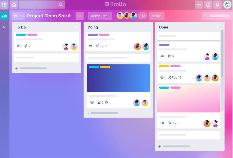 bproject management tool Trello