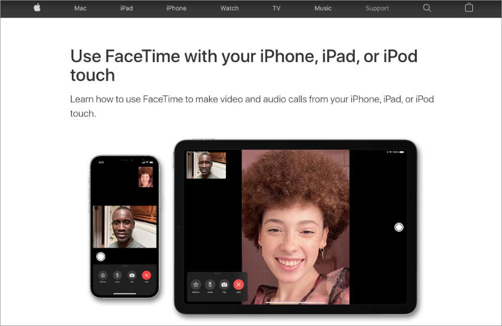 Online meeting and conferencing tools FaceTime