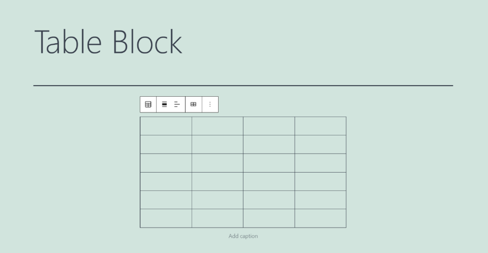 How to Add the Table Block to your Post or Page