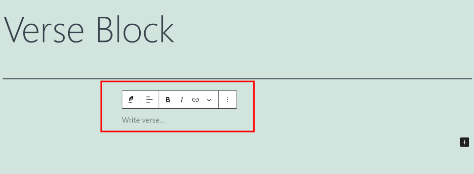How to Add the Verse Block to your Post or Page