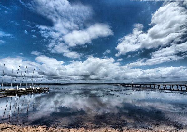 Long Jetty Cloud Reflection