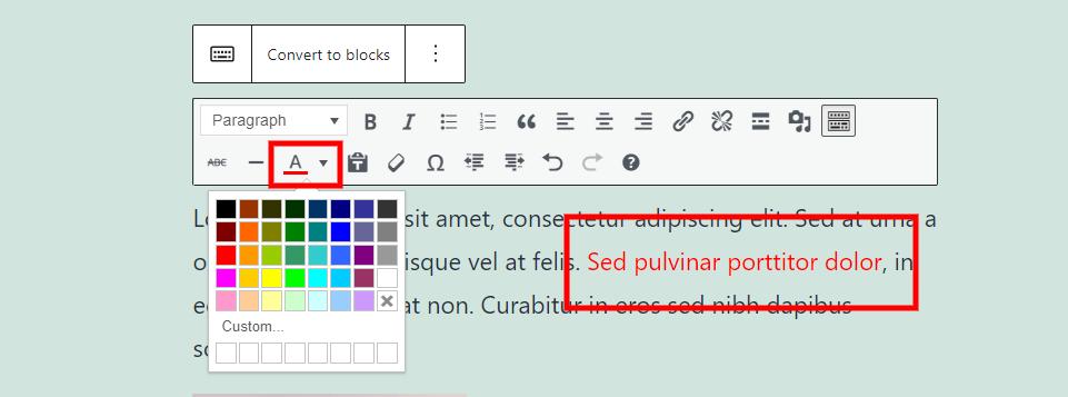 Text Color