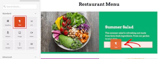 Add menu item price