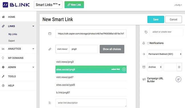 BLINK URL and link shortener
