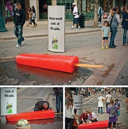 Guerilla Marketing Example: Bounty's Giant Popsicle
