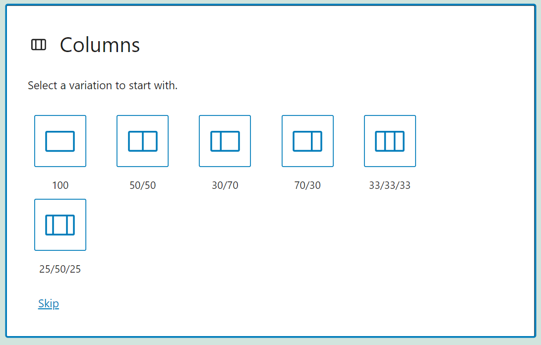 Adding columns to a row