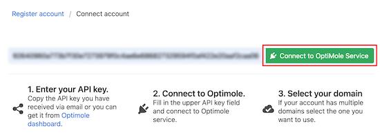 Enter API key