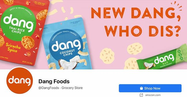 Facebook Page cover from Dang Foods' FB Page