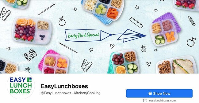 Facebook Page cover from EasyLunchboxes' FB Page
