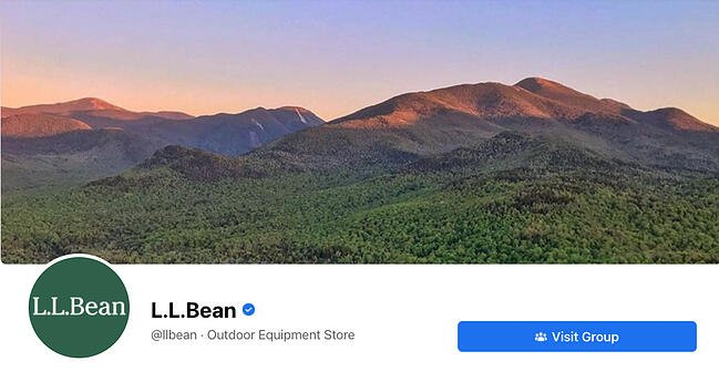 Facebook Page cover from L.L Bean's FB Page