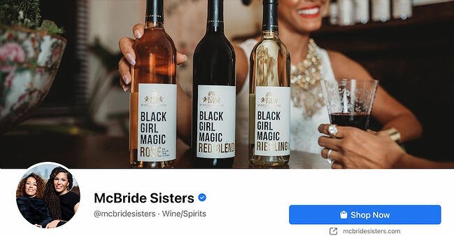 Facebook Page cover from McBride Sisters' FB Page