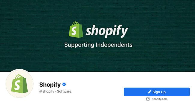 Facebook Page cover from Shopify's FB Page