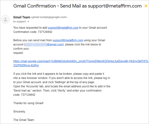 Gmail email verification account