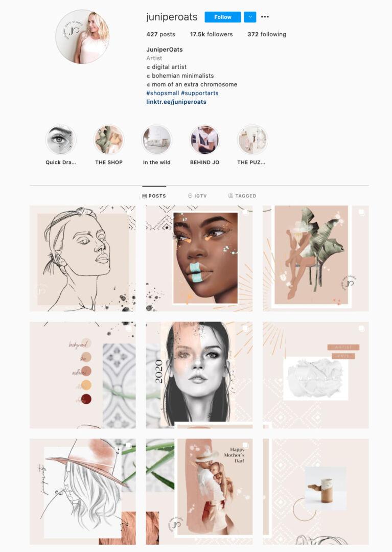 Puzzle Instagram Theme Example