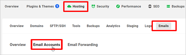 The Hub - Hosting - Emails - Email Accounts