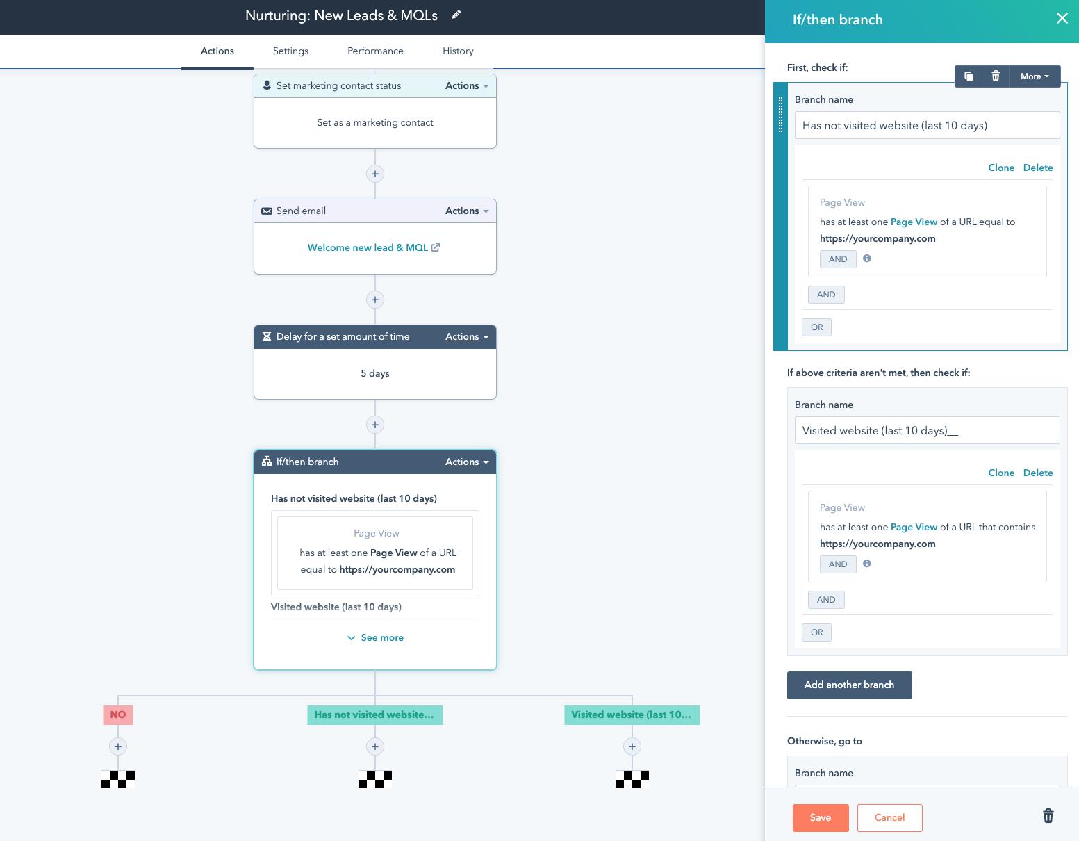 Workflow automation software: HubSpot
