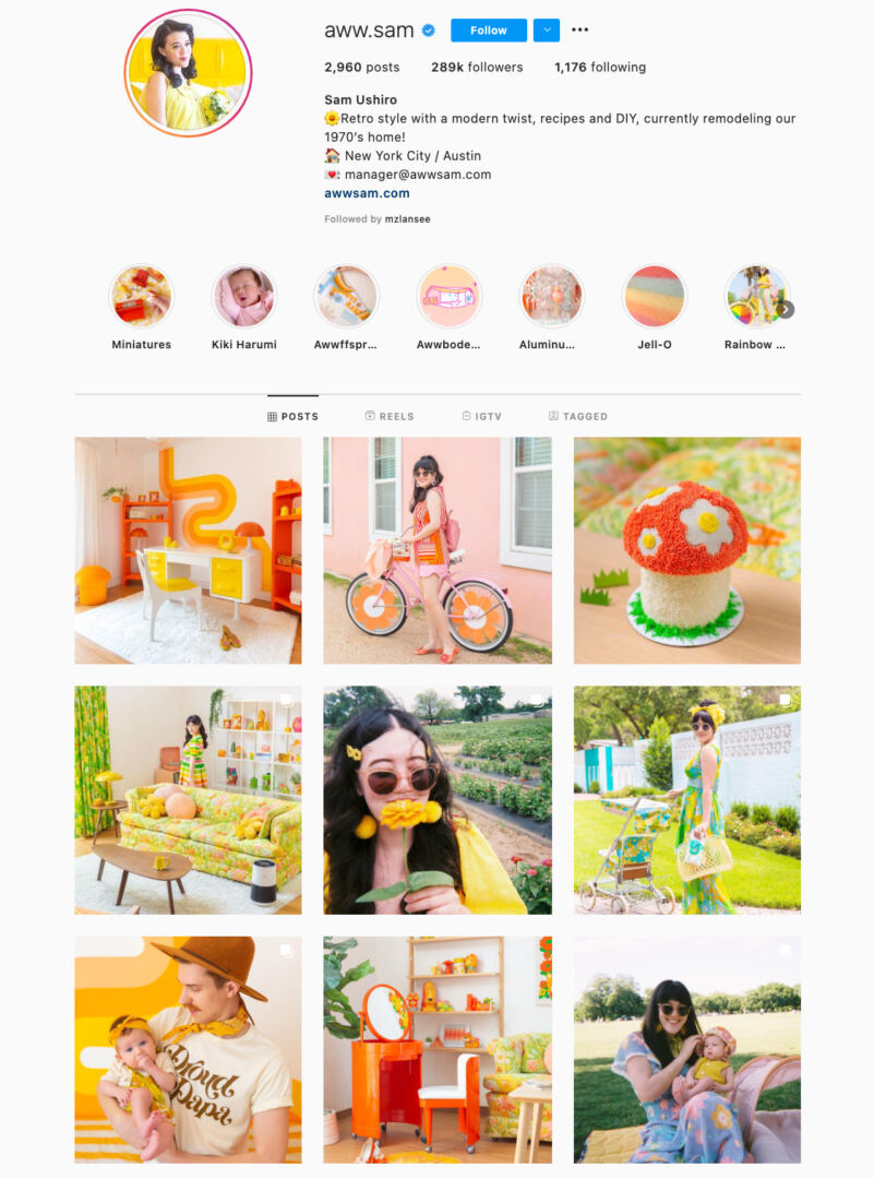 Bright Colors Instagram Theme Example