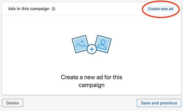 linkedin advertising create new ad when building your linkedin ad