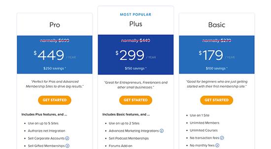 MemberPress pricing