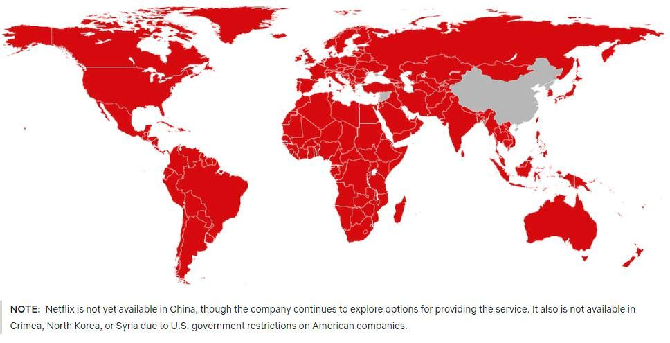 Netflix subscriber base on the map