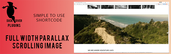 Parallax Image header.