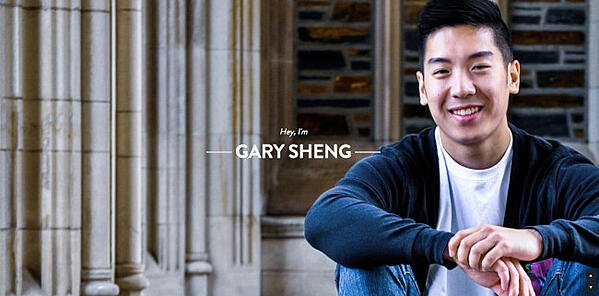Personal Website Examples: Gary Sheng