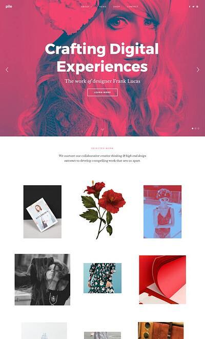 mobile website design: pixelgrade homepage