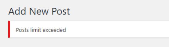 Post limit notification