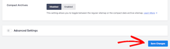 Save custom HTML page settings