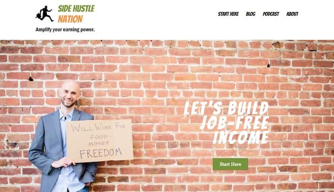 Personal Website Examples: Nick Loper: Side Hustle Nation