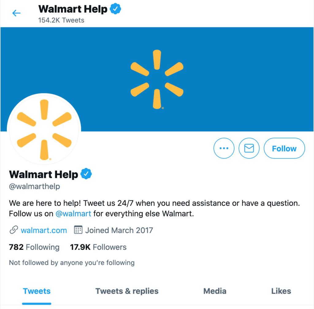 An example of Walmart offering an omnichannel experience.