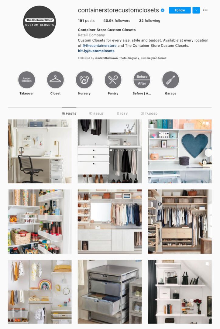 Content Elements Instagram Theme Example