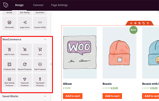 SeedProd WooCommerce blocks