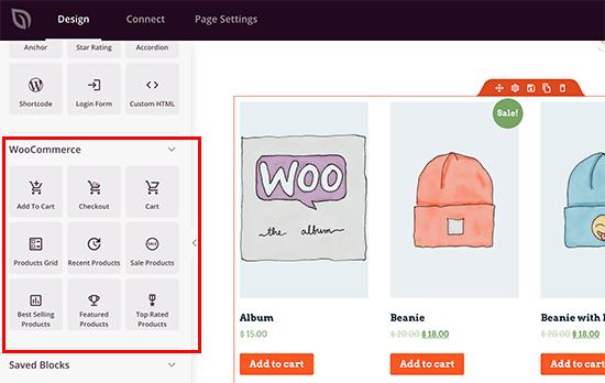 WooCommerce blocks in SeedProd