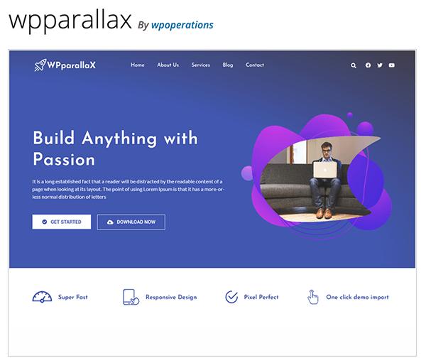 WPparallax header.