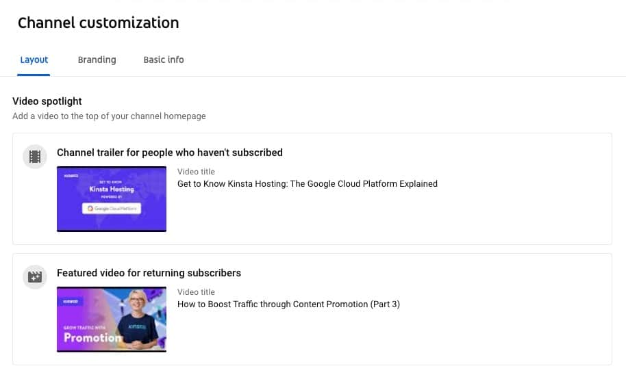 YouTube's Video Spotlight.