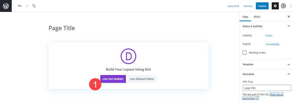 edit with the divi builder to add a contact form