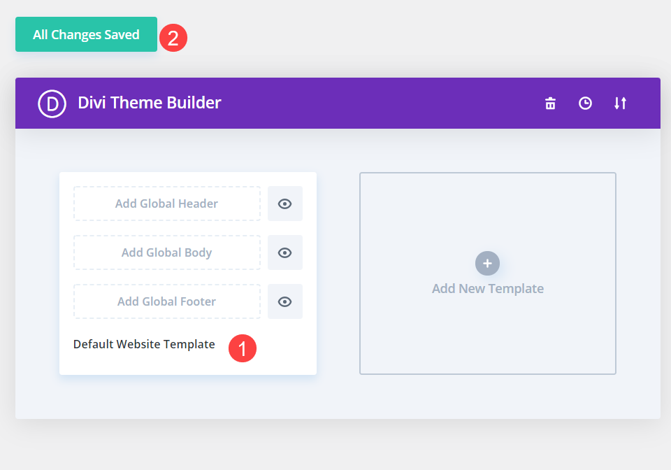 reset to a fresh theme builder