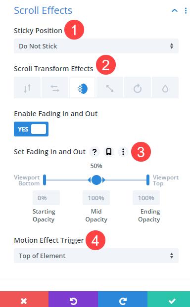scroll effects
