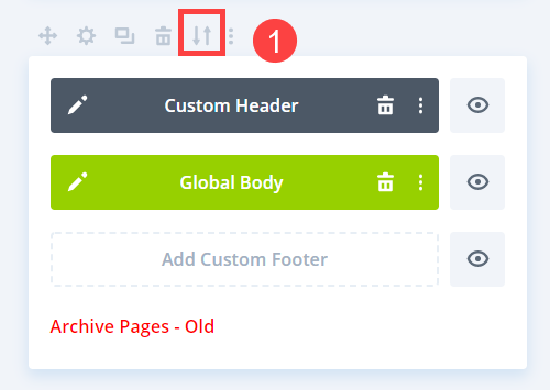 organize templates by export