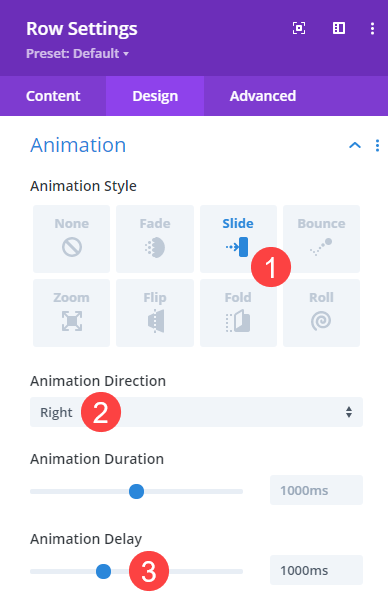 row animations