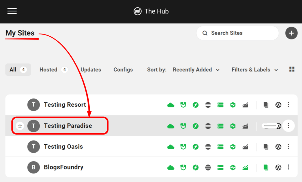 Listed sites in WPMU DEV's Hub
