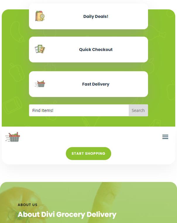 mobile version of the divi search field