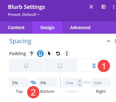 responsive padding
