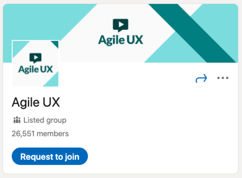 Agile UX LinkedIn Group for designers and developers