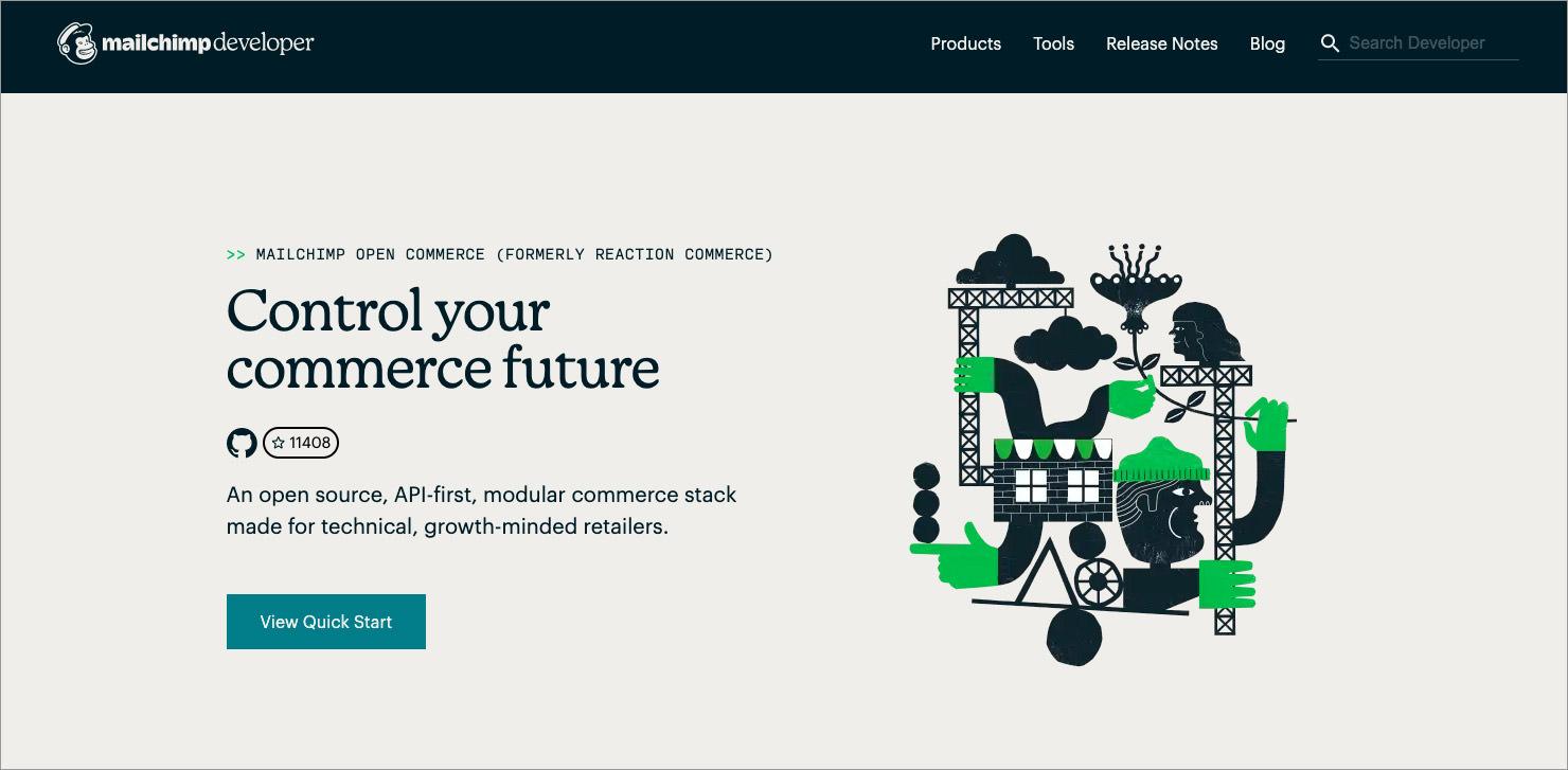 open-source ecommerce shopping cart Mailchimp Open Commerce