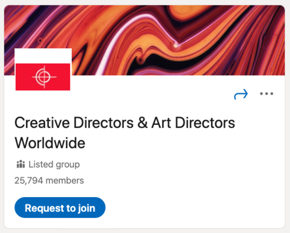 Creative Directors and Art Directors Worldwide LinkedIn Group for designers and developers
