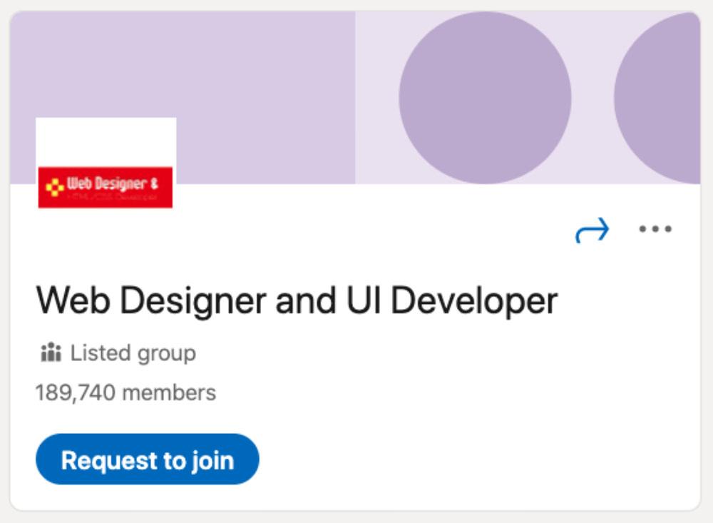 Web Designer and UI Developer LinkedIn Group for designers and developers