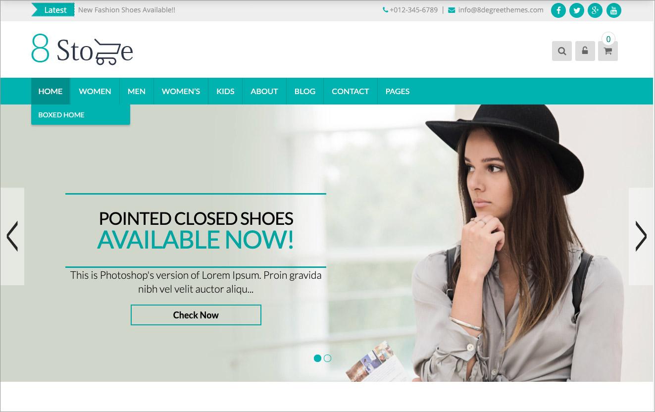 free eCommerce WordPress theme