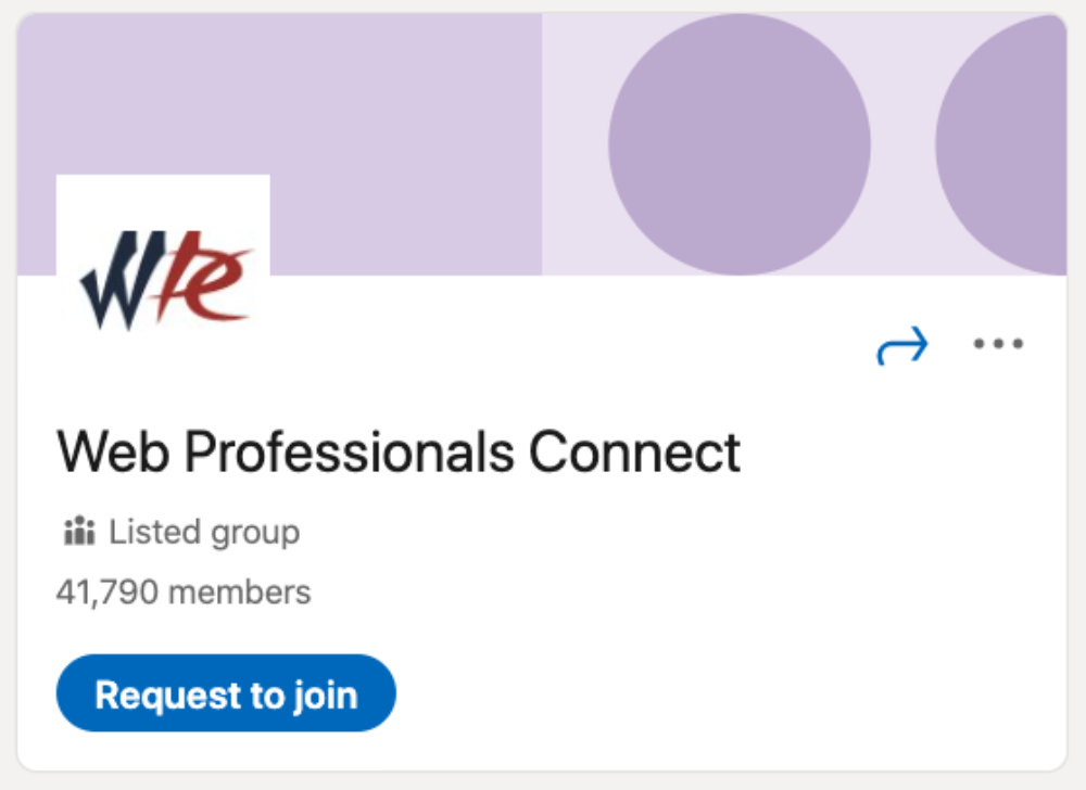 Web Professionals Connect LinkedIn Group for designers and developers